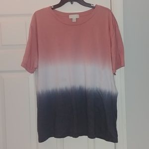 ❤ Red white and blue ombre tee